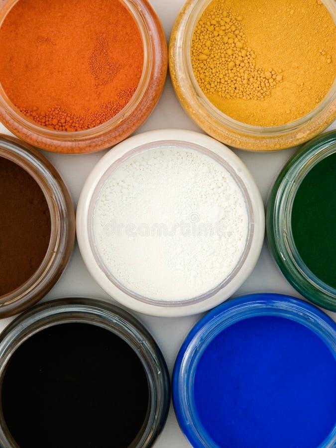 Pigmentos del polvo imagenes de archivo