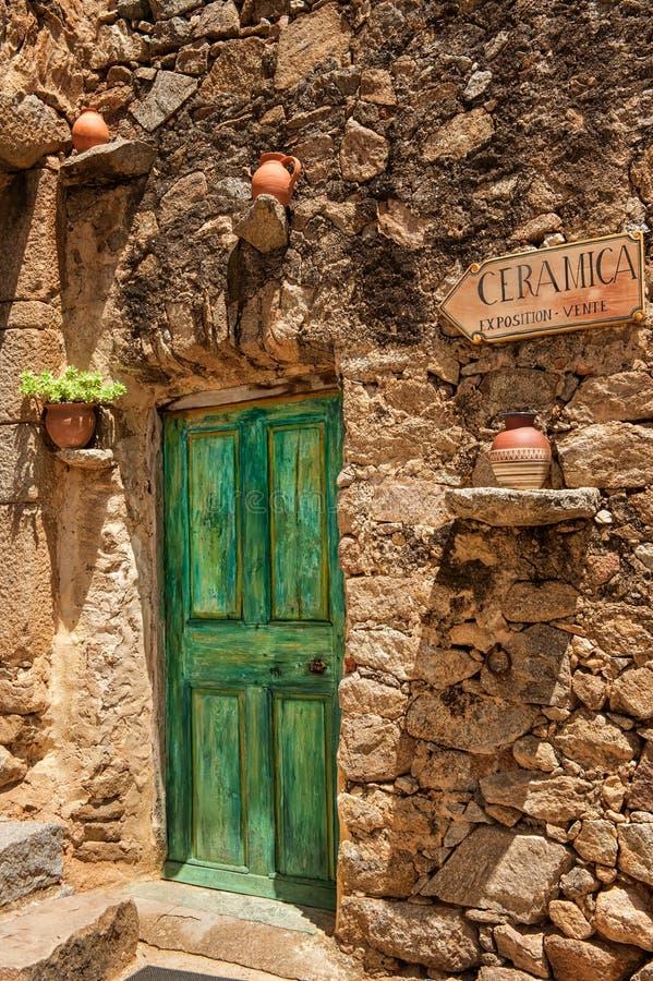 Pigna (Cosica, França) foto de stock