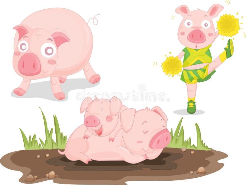 pigs royaltyfri illustrationer