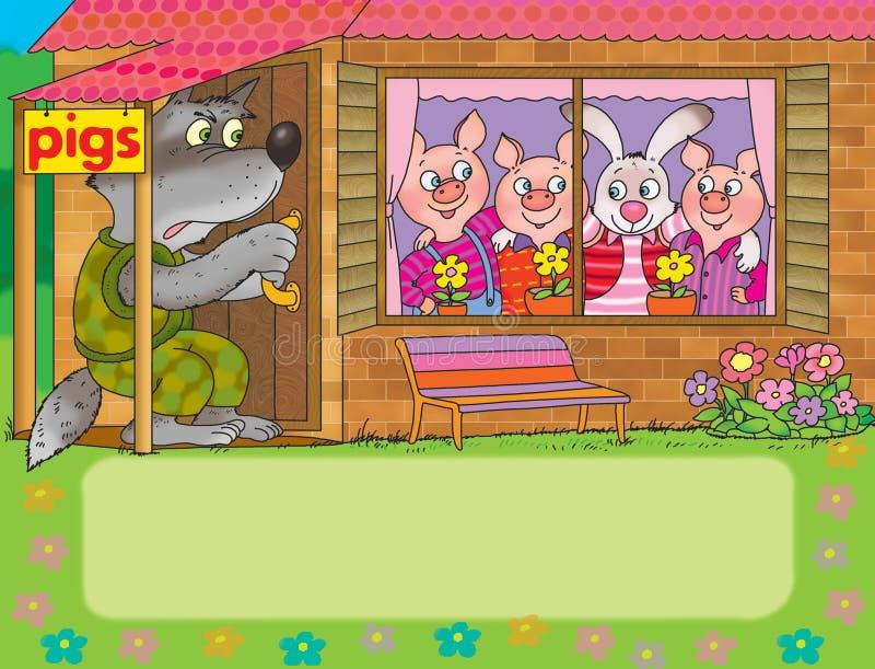 pigs tre stock illustrationer