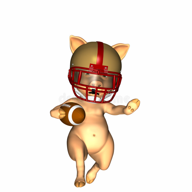 Download Pigskin 1 stock illustration. Image of player, playoff - 1704598