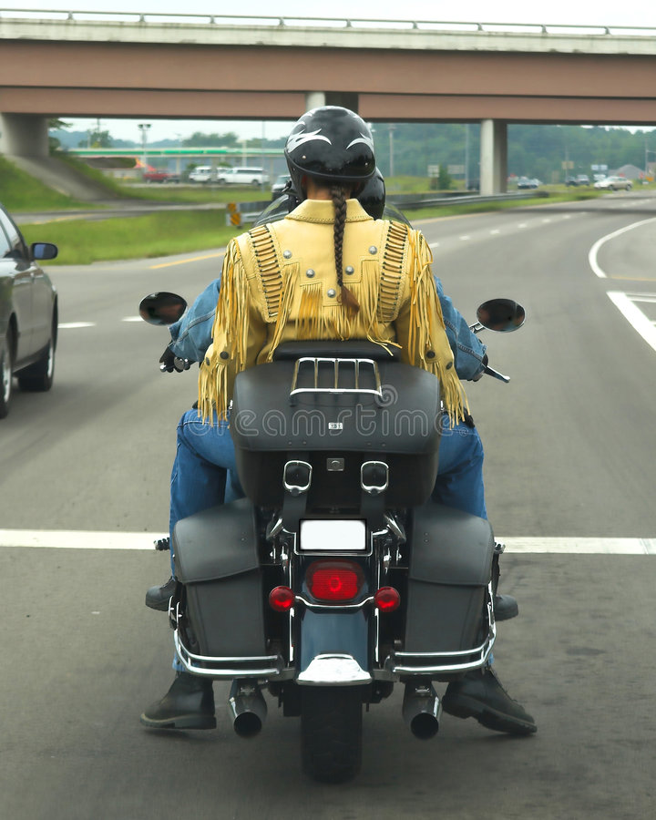 Pigtail & Motorcycle royalty free stock photography