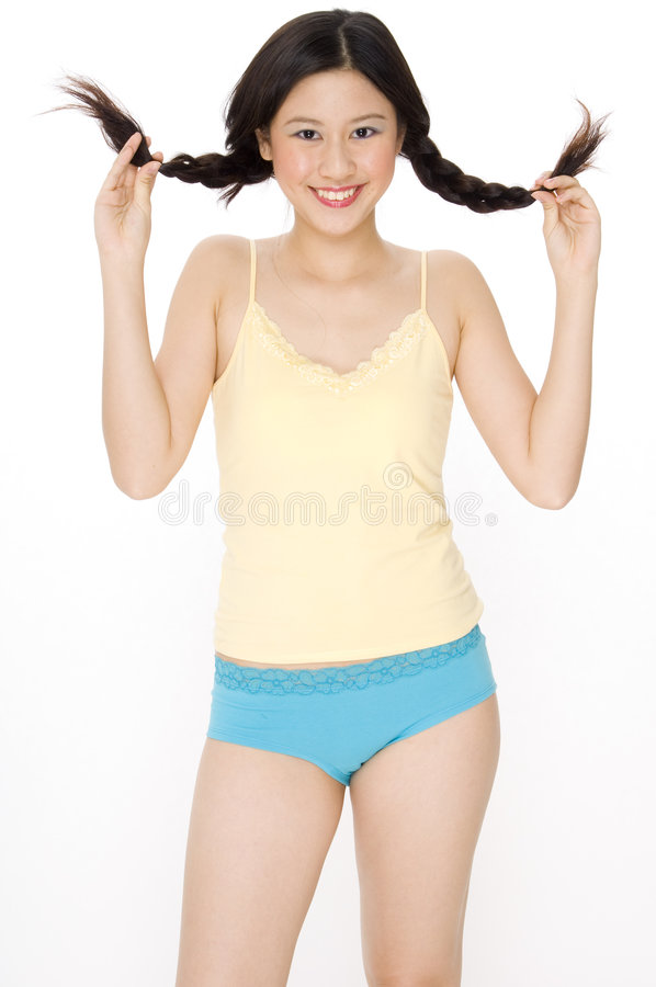 Pigtails stock photo