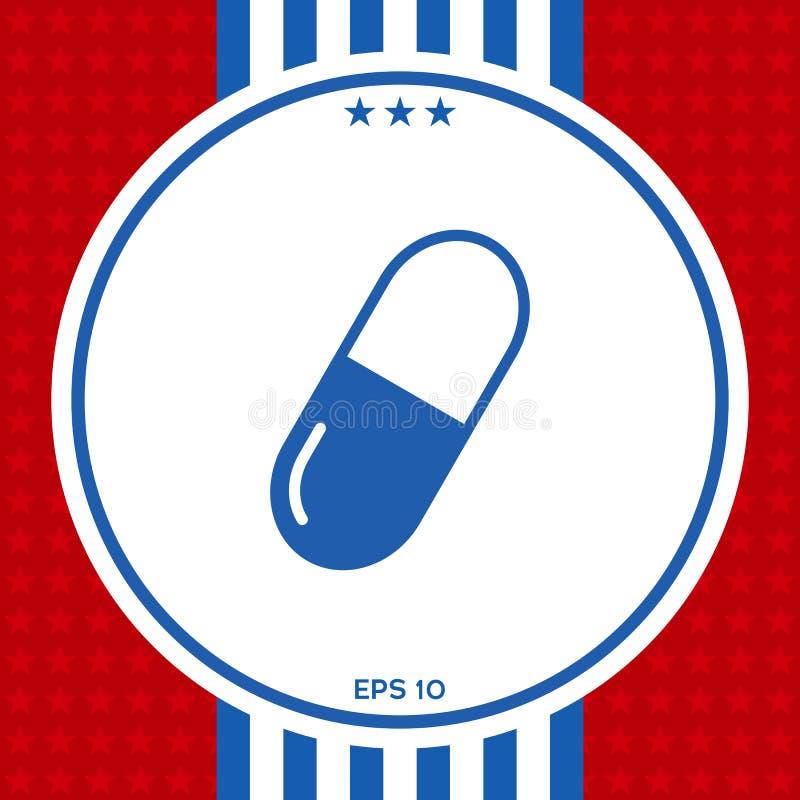 Pigułka symbolu ikona ilustracji