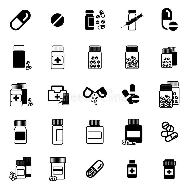 Pigułki ikona ilustracji