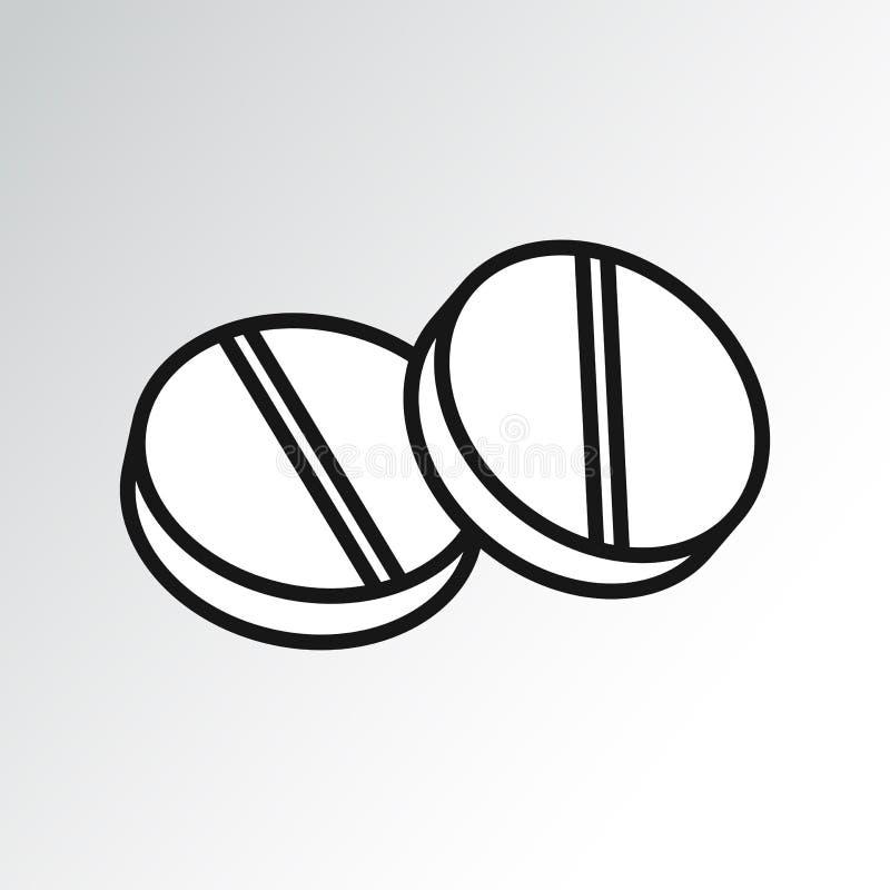 Pigułki ikona, konturu projekt wektor royalty ilustracja