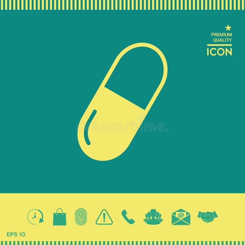Pigułki ikony symbol ilustracji