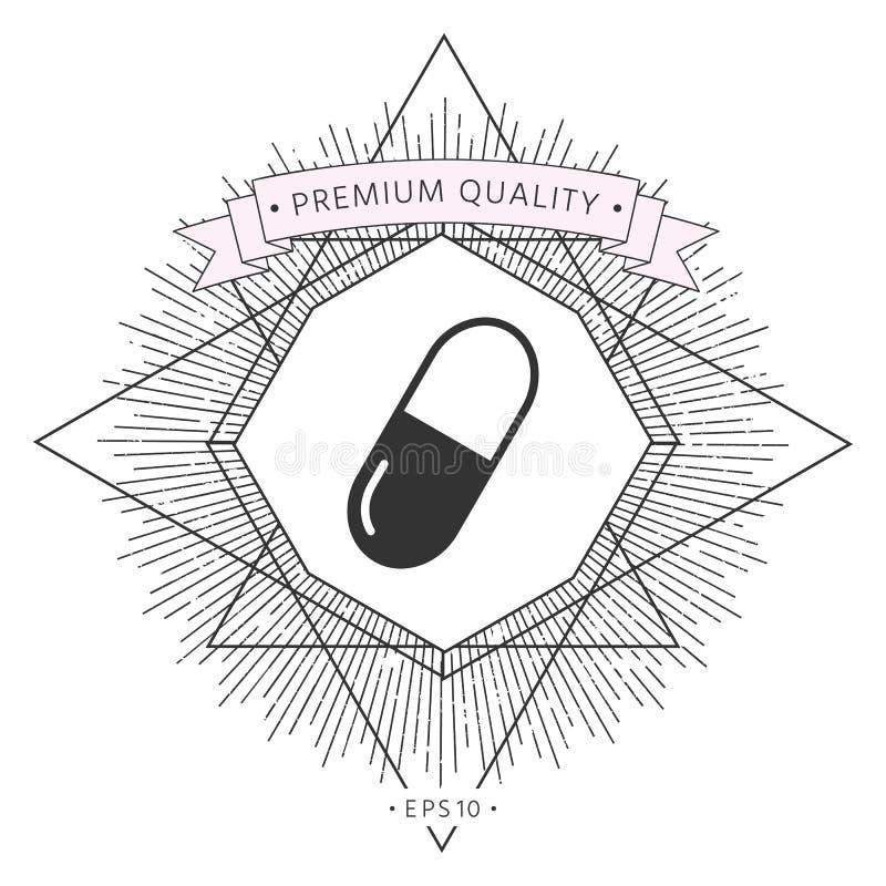 Pigułki ikony symbol royalty ilustracja