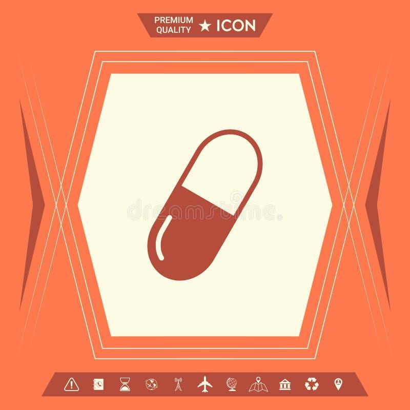 Pigułki ikony symbol ilustracja wektor