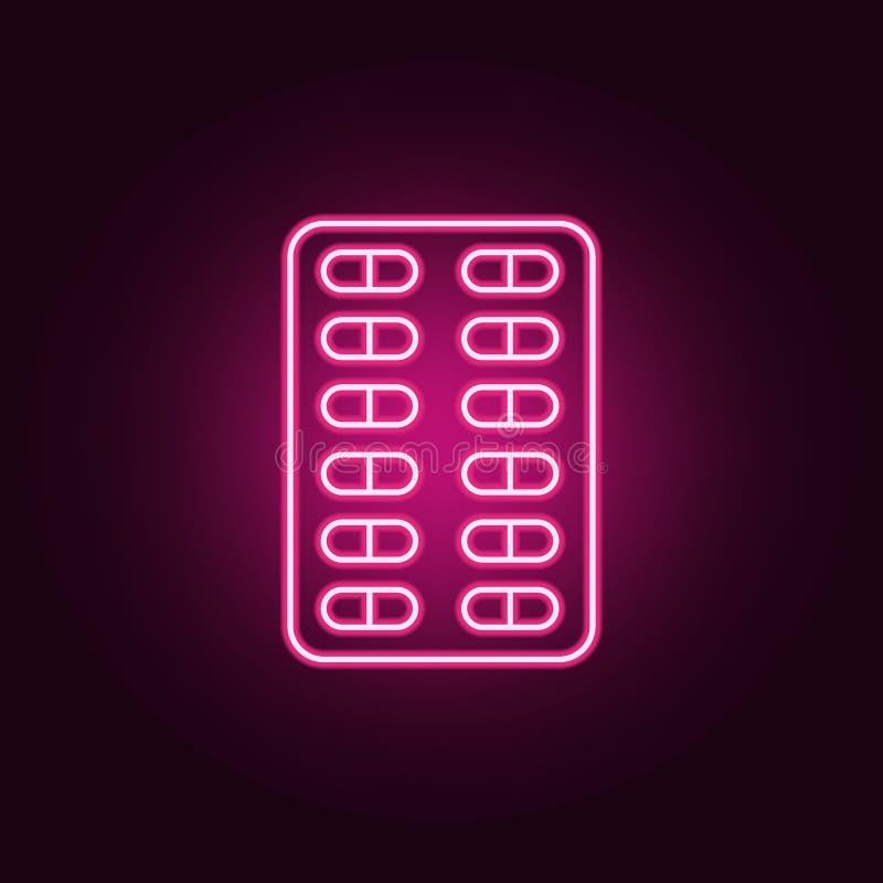 pigu?ki neonowa ikona Elementy Medecine set Prosta ikona dla stron internetowych, sie? projekt, mobilny app, ewidencyjne grafika ilustracji