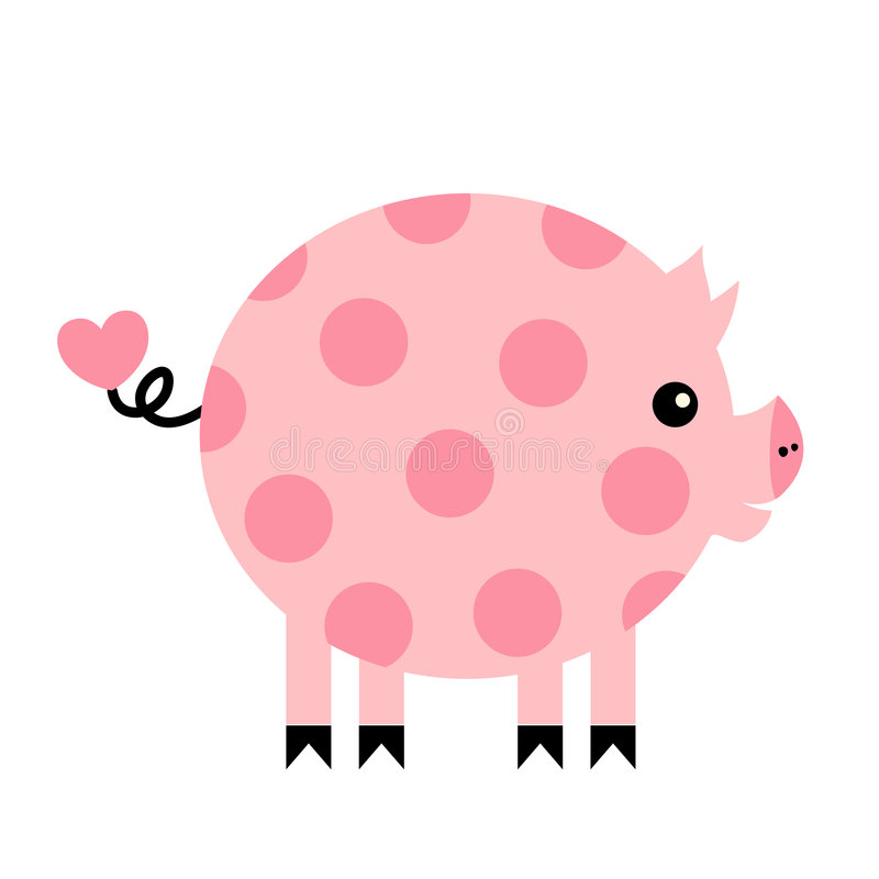 pigvektor stock illustrationer