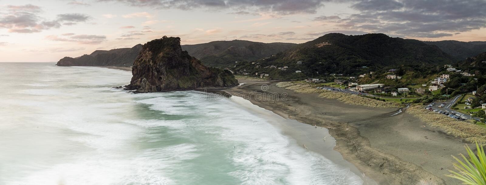 Piha Beach. Auckland, New Zealand. One of NZs most iconic west coast beaches royalty free stock photos