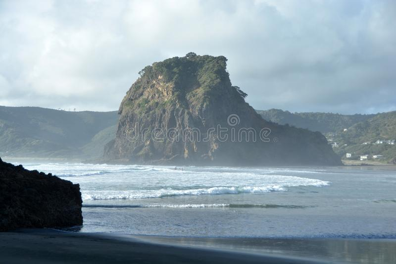 Piha beach in New Zealand stock photo