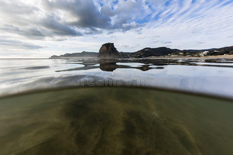 Piha Beach, New Zealand stock photos