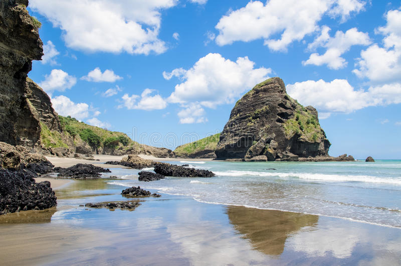 Piha Beach in New Zealand. royalty free stock images