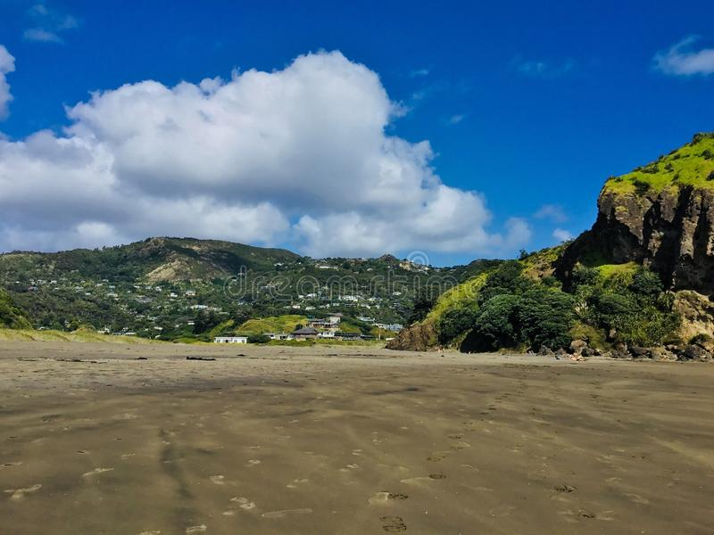Piha beach, NZ. stock photography