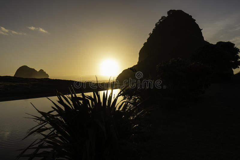 Piha Beach, NZ stock photo