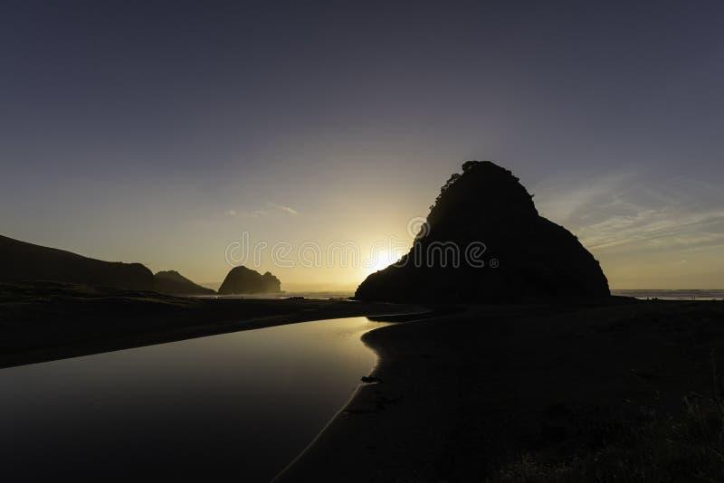 Piha Beach, NZ royalty free stock photos