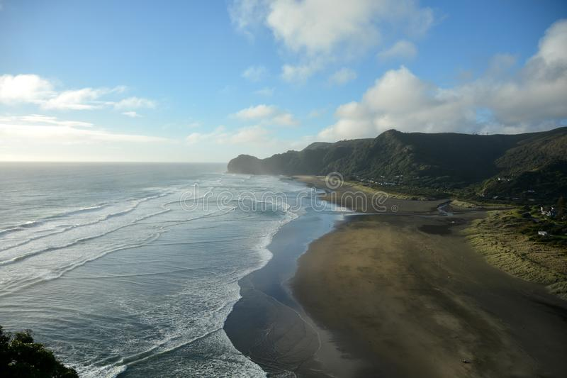 Piha beach in New Zealand royalty free stock images