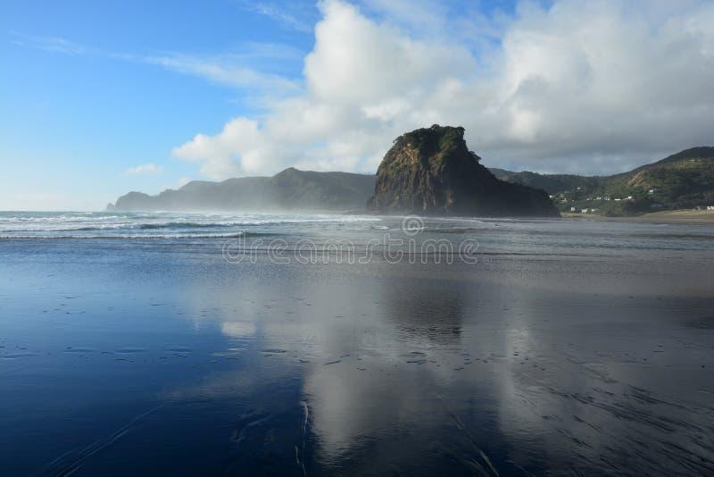 Piha beach in New Zealand royalty free stock image