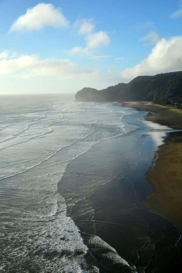 Piha beach in New Zealand royalty free stock photos