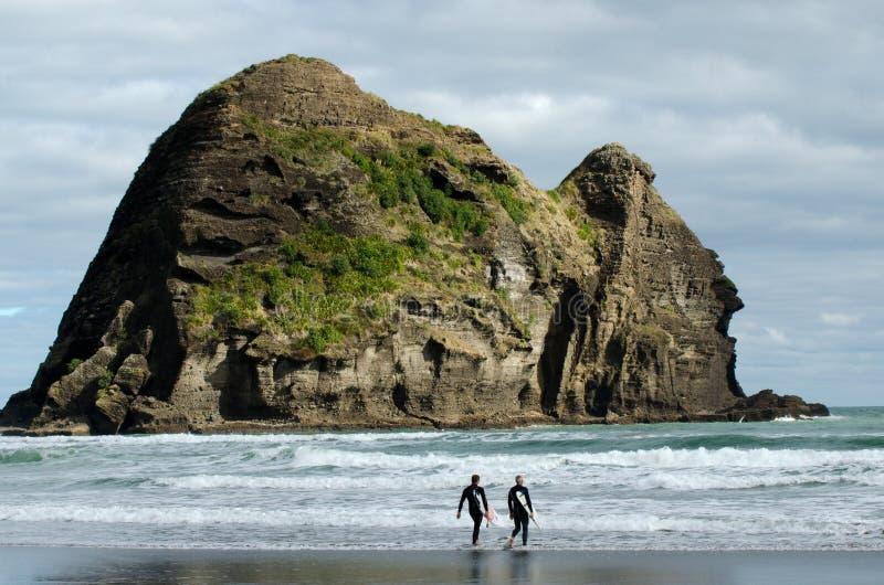 Piha - la Nuova Zelanda fotografie stock libere da diritti