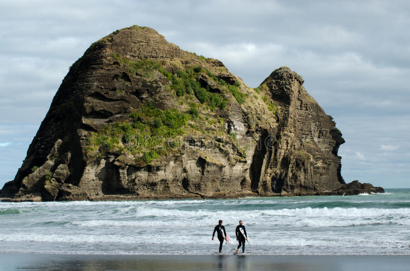 Piha, Nowa Zelandia - zdjęcia royalty free
