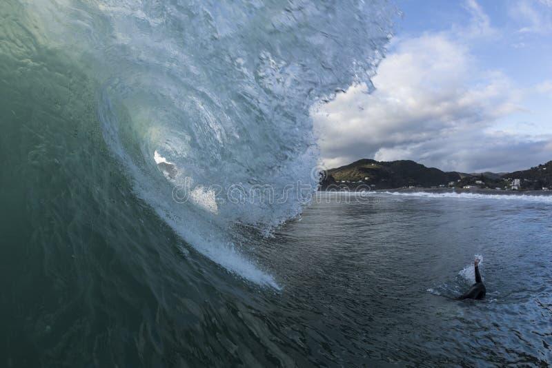Piha Surf royalty free stock image