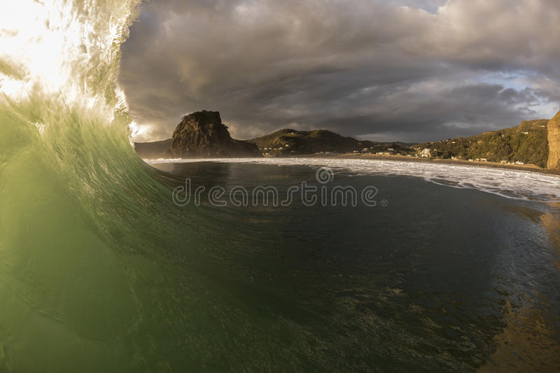 Piha Wave stock photos