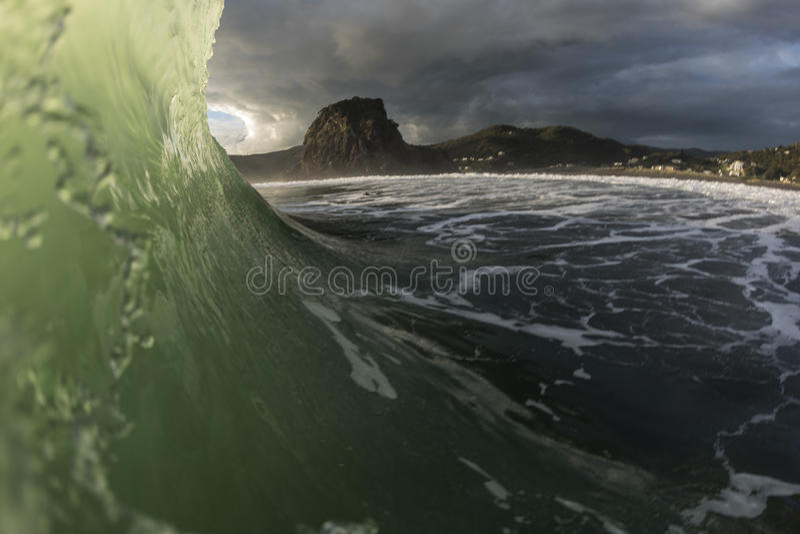 Piha Wave stock photography