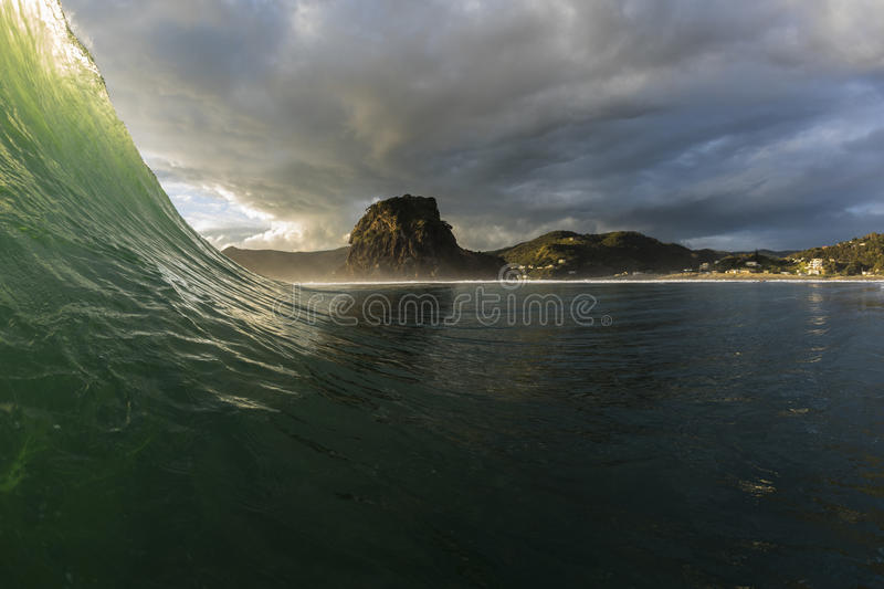 Piha Wave royalty free stock photos