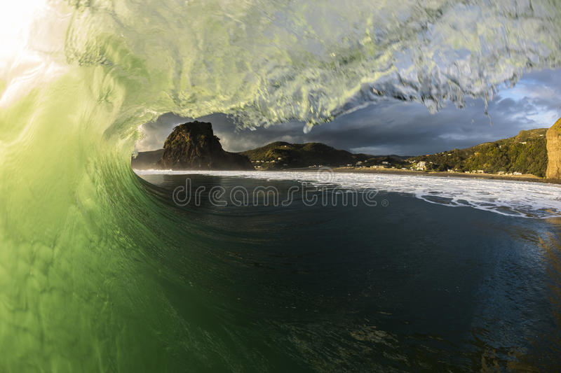 Piha Wave stock images