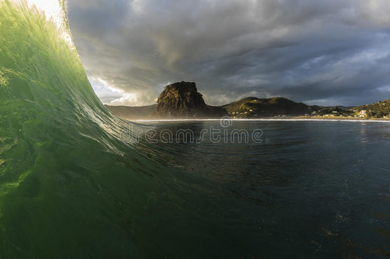 Piha Wave royalty free stock photo