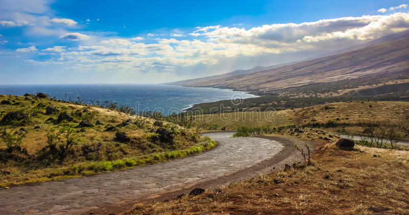 Piilani-Landstraße, Maui stockfotos