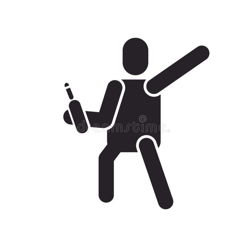 Pijący ikona wektoru znaka i symbol odizolowywających na białym backgroun ilustracji