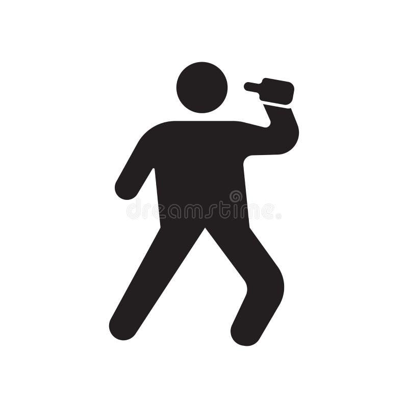 Pijący ikona wektoru znaka i symbol odizolowywających na białym tle, Pije logo pojęcie ilustracji