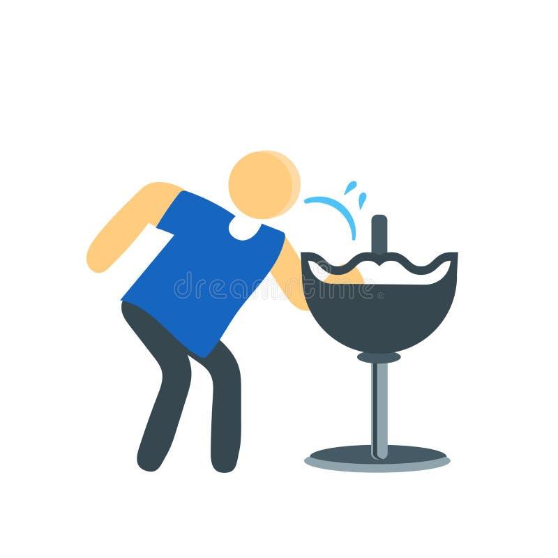 Pijący ikona wektoru znaka i symbol odizolowywających na białym tle, Pije logo pojęcie ilustracja wektor