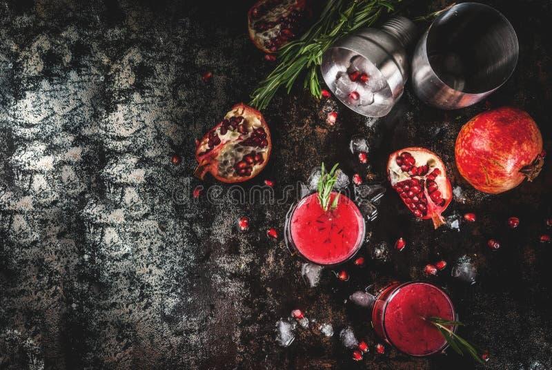 Pijacki alkoholiczny granatowa koktajl obraz royalty free