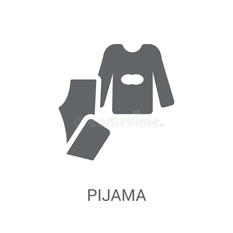 Pijama icon. Trendy Pijama logo concept on white background from royalty free illustration