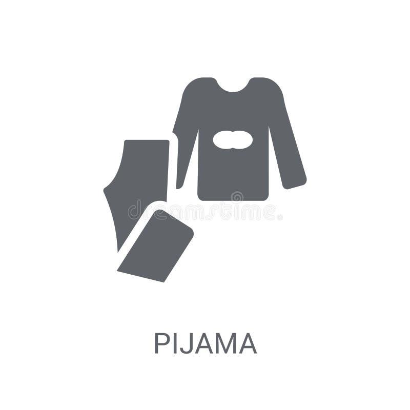 Pijama symbol  royaltyfri illustrationer