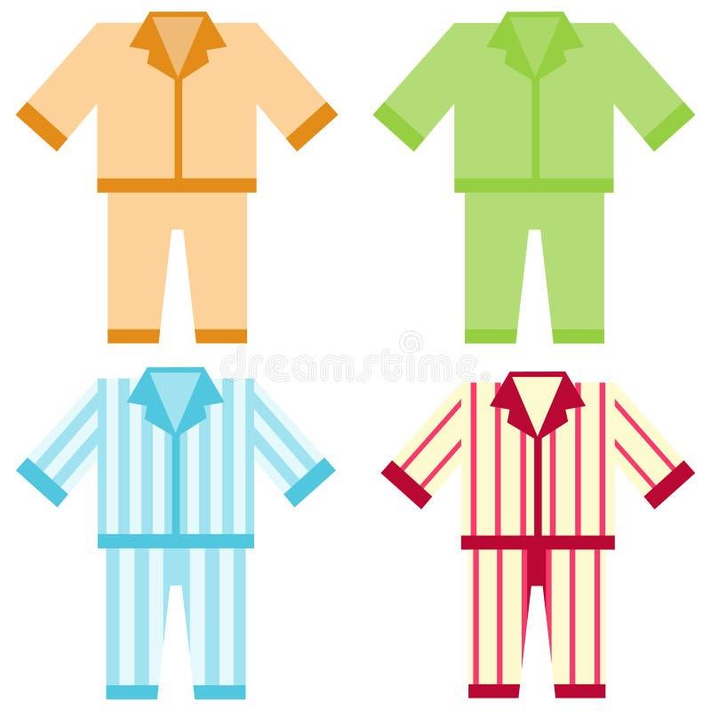 Pijamas do ícone ilustração stock