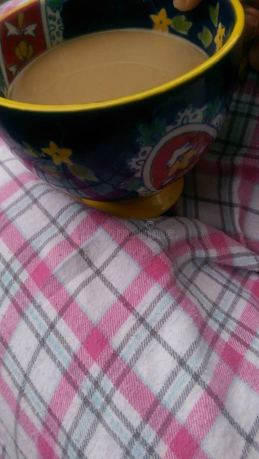 Pijamas e café foto de stock royalty free