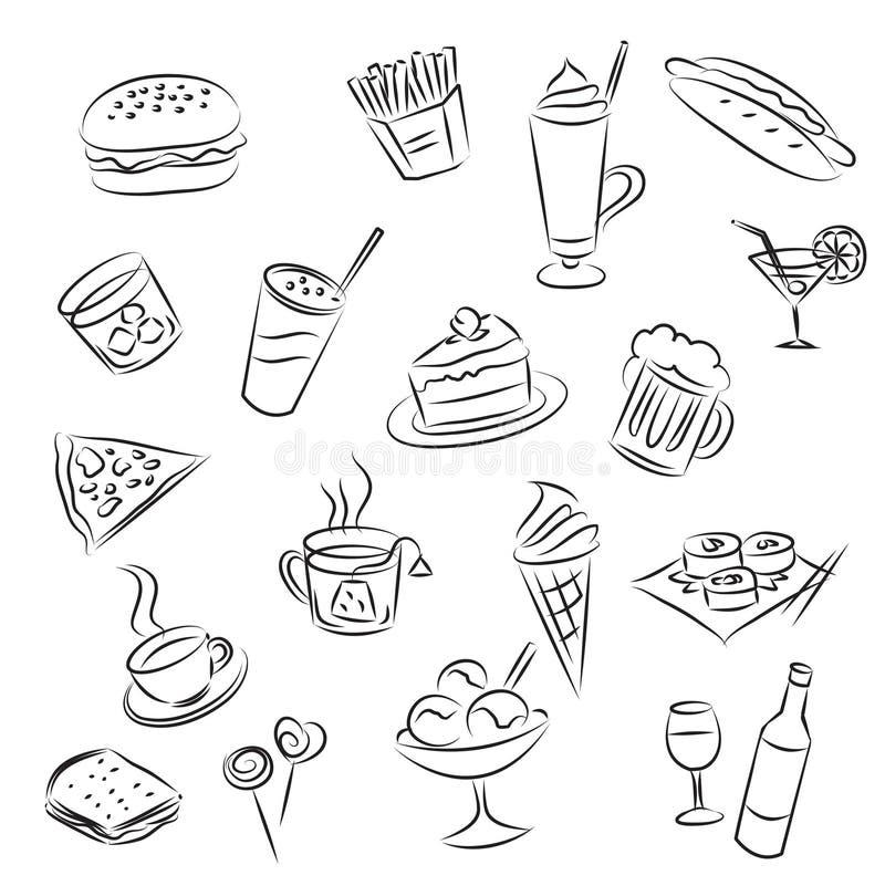 pije jedzenie royalty ilustracja