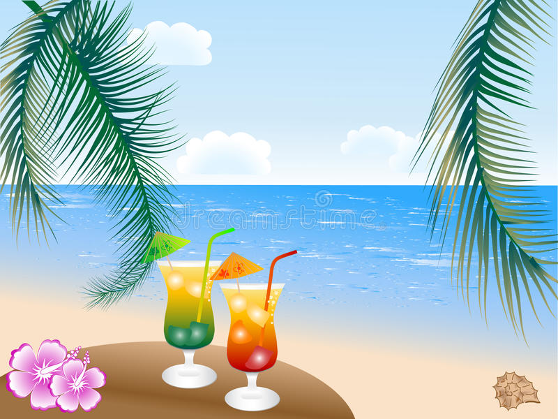 pije lato ilustracji