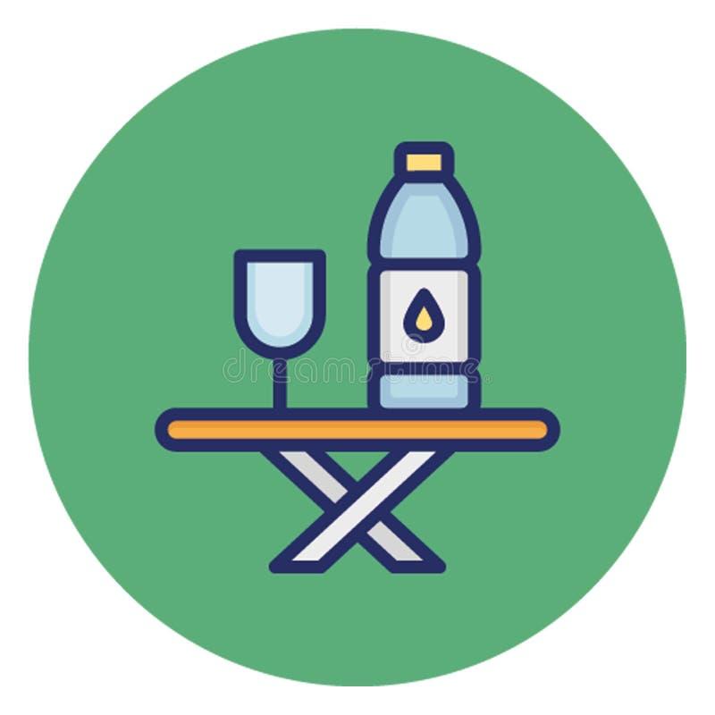 Pije, trunek Wektorowa ikona która może łatwo redagować royalty ilustracja
