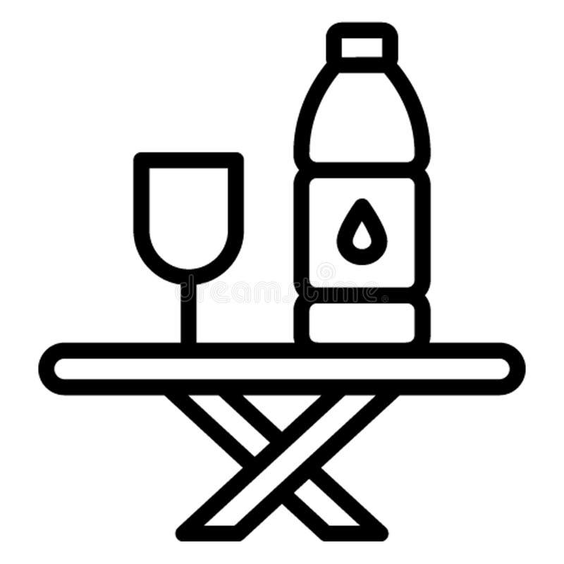 Pije, trunek Wektorowa ikona która może łatwo redagować ilustracja wektor