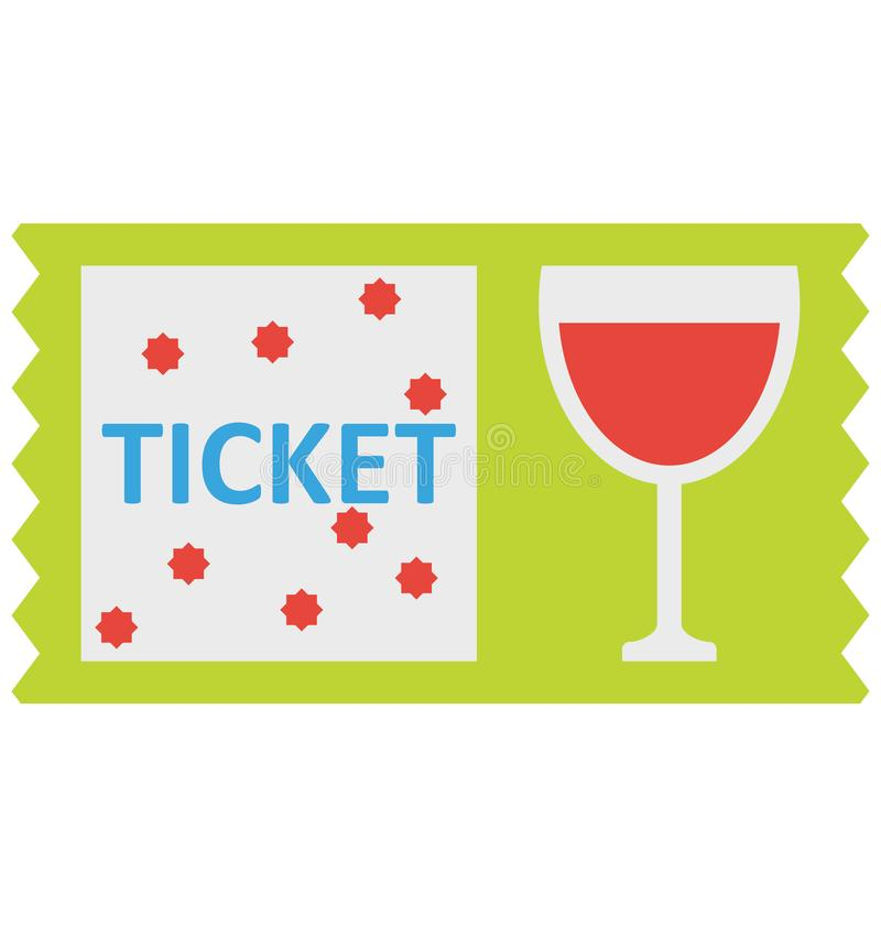 Pije zaproszenie, biletowa Wektorowa ikona która może łatwo redagować lub modyfikująca ilustracji