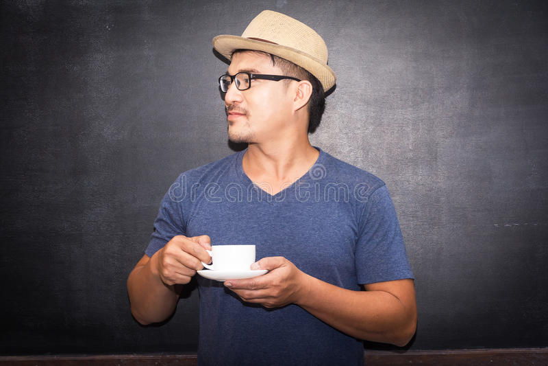 pijesz kawy obraz stock