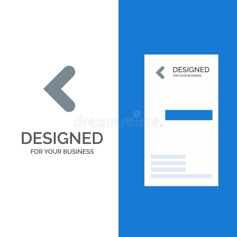 Pijl, Achter, Achterwaartse, Linkergrey logo design en Visitekaartjemalplaatje vector illustratie