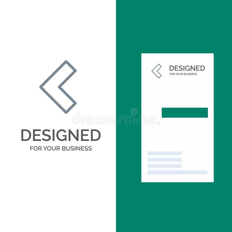 Pijl, Achter, Linkergrey logo design en Visitekaartjemalplaatje royalty-vrije illustratie